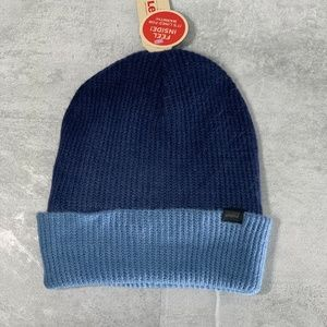 Levi's Navy Dip Dyed Foldover Cuff Knit Beanie O/S